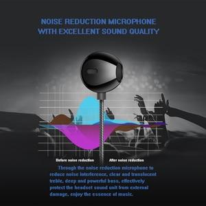 Image 4 - Azimiyo Metalen Bas Oordopjes Comfortabele In Ear Noise Cancelling Oordopjes 3.5 Mm Microfoon Hi Res Audio Half In Ear Oortelefoon
