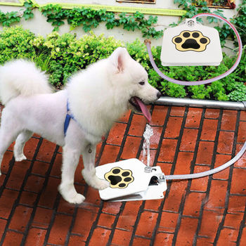 TOP FASHION Outdoor Trouble-Free Dog Pet Drinking Doggie Activated Water Fountain Hose Water Dispenser