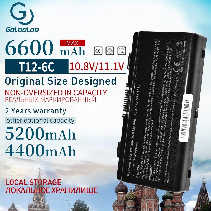11.1V Laptop Battery For Asus  A31-T12 A32-T12 A32-X51 X51R X51RL X58 X58C X58L X58Le T12C T12Er T12Fg T12Jg T12Ug X51H X51L