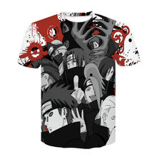 2021 hot sale Japanese anime Kakashi 3D T-shirt men and women cartoon O-neck shirt cool Harajuku clothes factory promotion