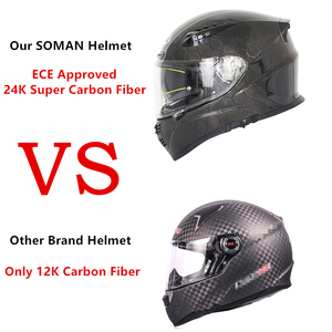 Image 5 - SOMAN ניאון קו סיבי פחמן קסדה מגניב מלא פנים ECE אופנוע קסדות מגן להעיף את Mens מירוץ Bluetooth Casco Moto