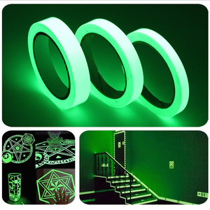 1pcs 1.5cm*1m Luminous Fluorescent Night Self-adhesive Glow In The Dark Sticker Tape Safety Security Decoration Warning Tape