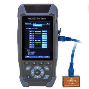 S710 mini-pro OTDR Reflectometer 9 functions in 1 device OPM OLS VFL Event Map RJ45 Ethernet Cable Sequence Distance Tracker
