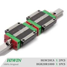 HIWIN HGW20CA 1000mm Linear Guideways Blocks Carriage HGR20 Linear Guide Rail High Precision CNC Parts for Machine z axis 1000mm hiwin egr30 linear guide rail from taiwan