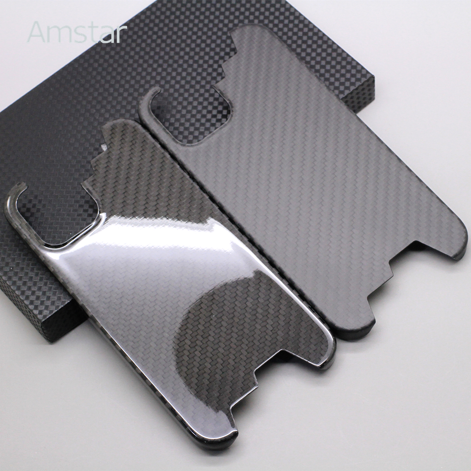 Amstar luxo real fibra de carbono caso do telefone para o iphone 12 / 12 pro max 100% puro fibra de carbono capa dura para iphone 12 mini