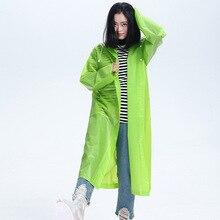 EVA Raincoat Girls Outdoor Rain Jacket Coat Hiking Women Men M L XL Transparent