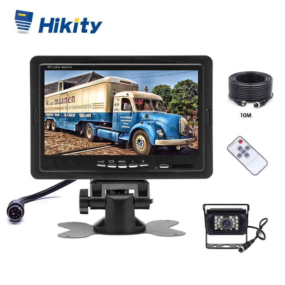 Hikity Vehicle Backup Reverse Camera 4-pin Connector IR Night Vision 7