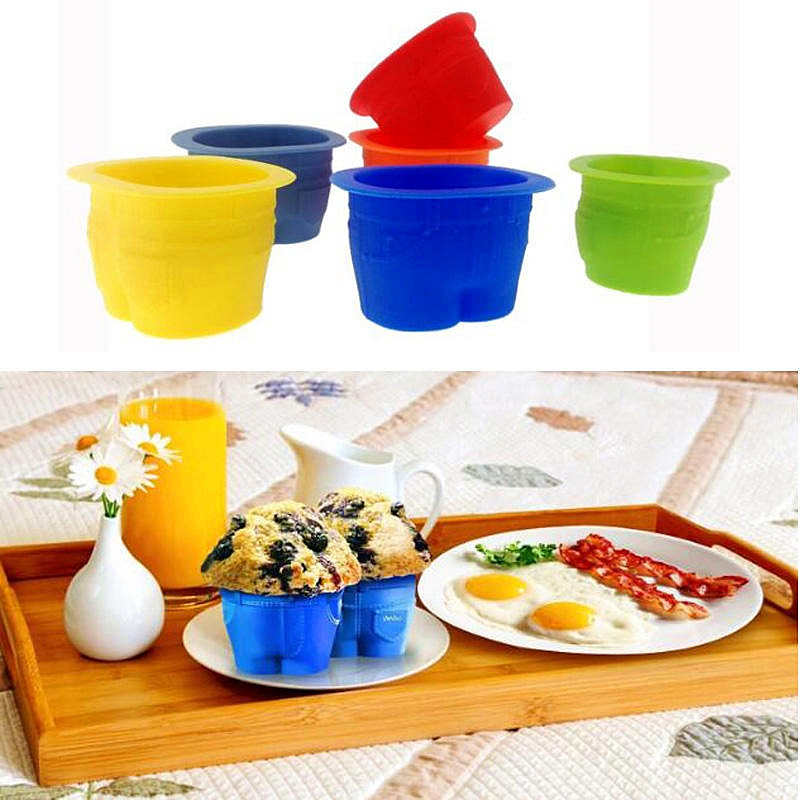 Creative Silicone Mold Cup Jeans Cake Mold DIY Muffin Cupcake Pudding Chocolate Non-stick Baking Tray Kitchen Accessories