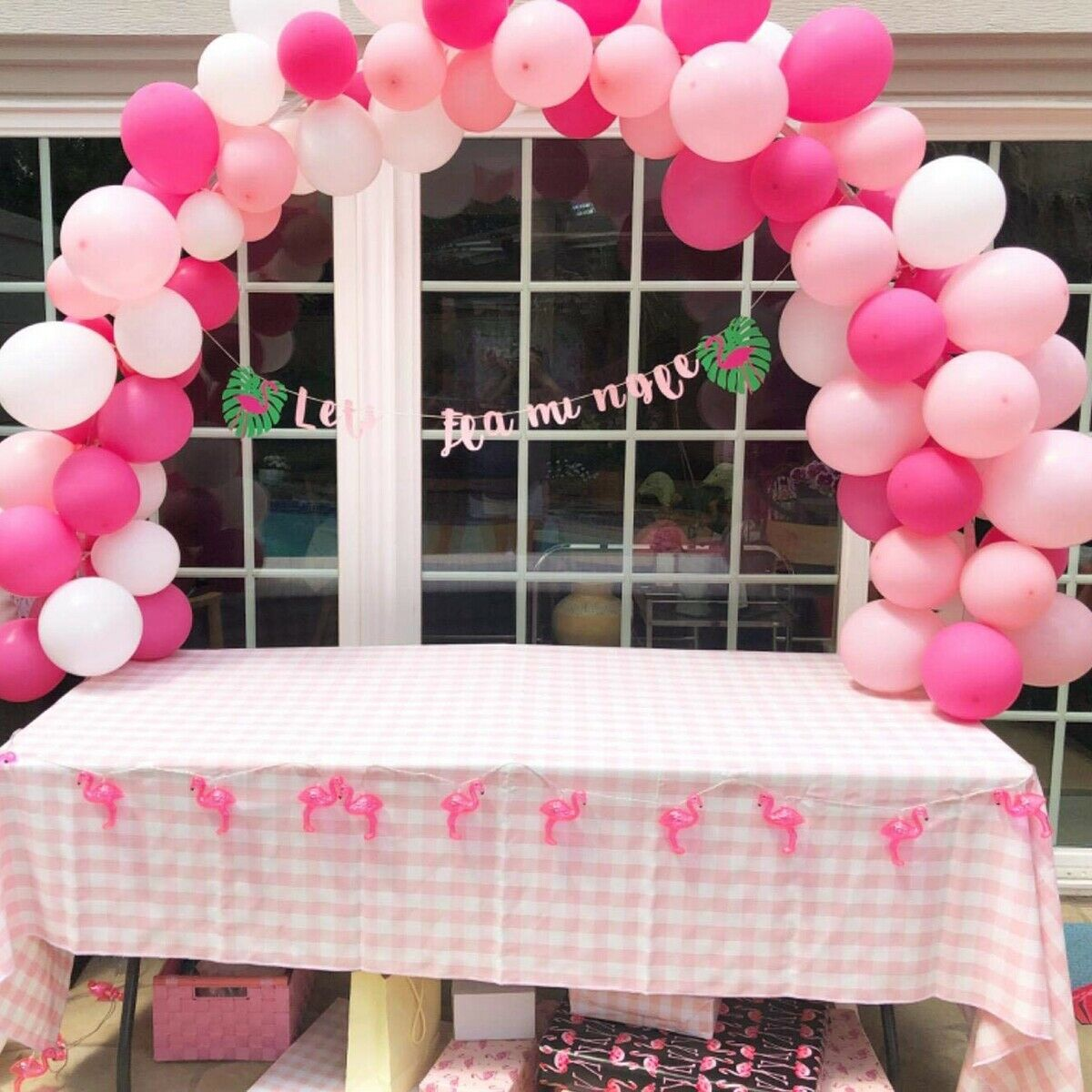 Large Balloon Arch Column Stand Frame Kit for Birthday Wedding Party Decoration