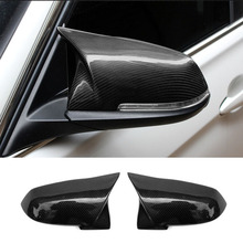 2PCS Mirror Cover Car Side Door Rearview Side Mirror Cover Cap For BMW 1 2 3 4 series F20 F22 F23 F30 F32 F33 F35 X1 E84 1pair l r door wing mirror glass heated blue left right side for bmw x5 e53 99 06 3 0i 4 4i car styling rearview mirror heating