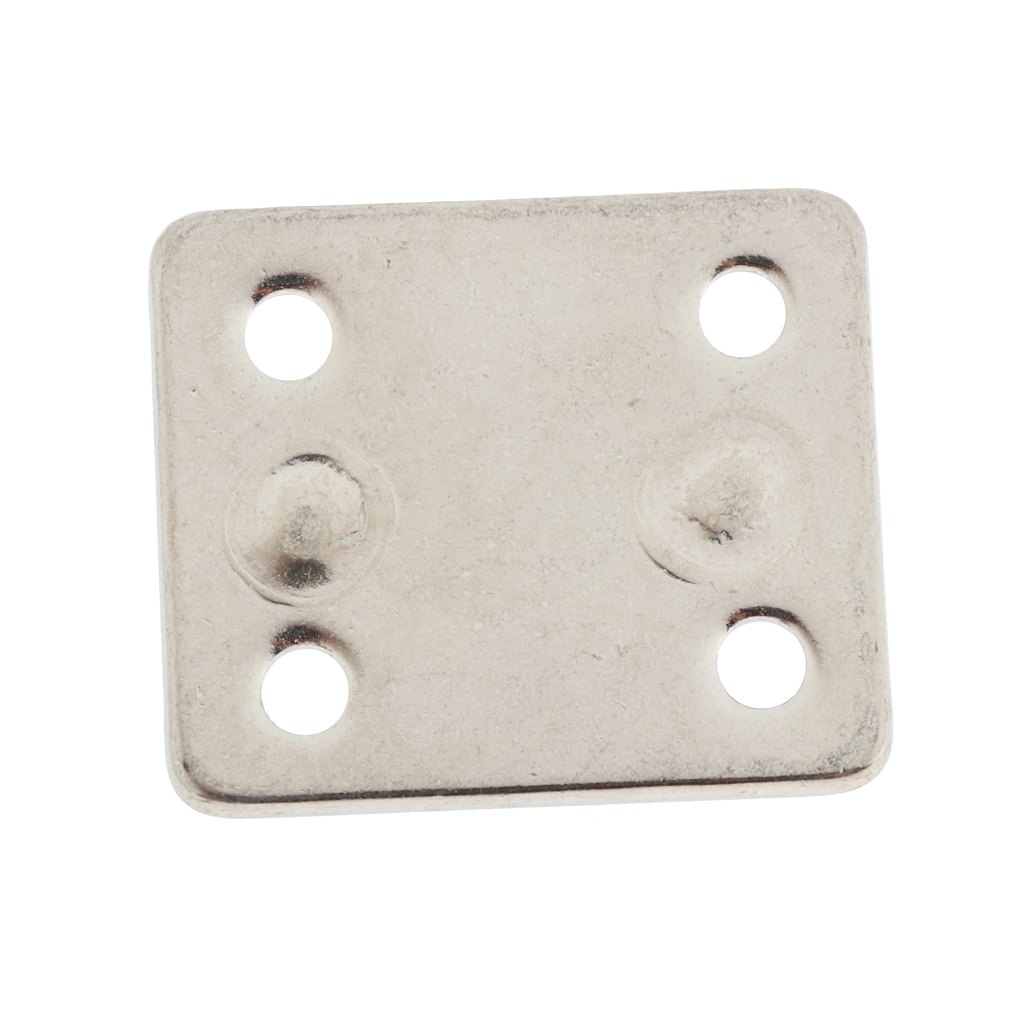 304 Stainless Steel 5mm Thick Ring Square Sail Shade Pad Eye Plate Boat Rigging - Silver