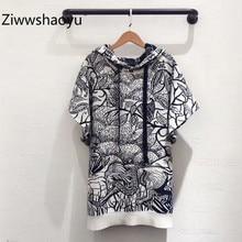 Ziwwshaoyu мода высокого класса кашемир короткий рукав животный мир вышивка осень зима вязание свитера пуловер Женская