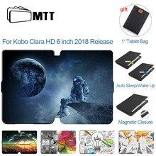 Mtt caso para kobo clara hd 6 polegada e-book 2018 liberação fino couro do plutônio ereader protetor capa para kobo clara 6 funfunfunda coque