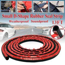 Car Door Seal Strips Sticker D Shape Weatherstrip Rubber Seals Sound Insulation Sealing Strip Automobiles Interior Accessories