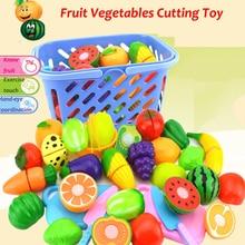Набор для резки фруктов, овощей, еды, многоразовые ролевые игры, игрушечный кухонный нож для детей, забавная игрушка, Подарочные инструменты для детей