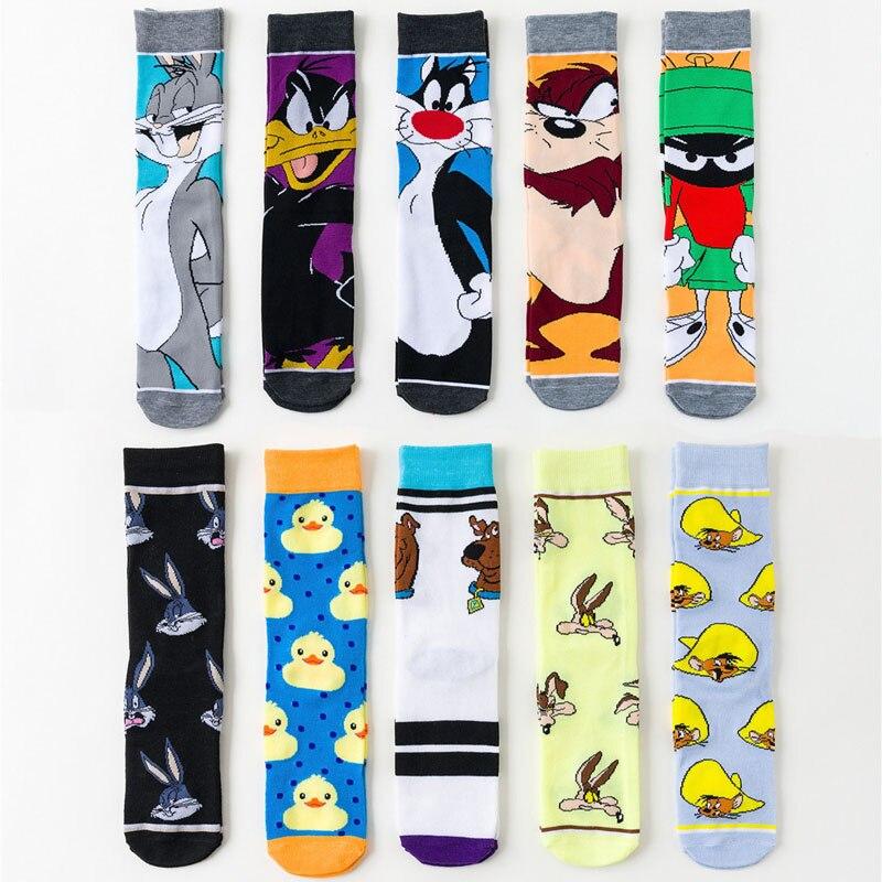 Cartoon Rabbit Sock Casual Hip Hop Creative Soft Comfortable Novelty SOCKS Men Women Breathable Cotton Hip Hop Sock