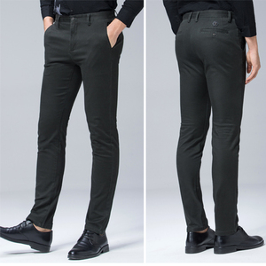 Image 4 - 高品質冬厚みの暖かいカジュアルパンツ男性スリムフィットチノカジュアルスーツのズボンの男性