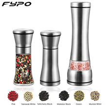 Fypo In Acciaio Inox Sale Manuale e Pepper Shakers Erba prezzemolo mill grinder pepper Mill con Regolabile Macina In Ceramica