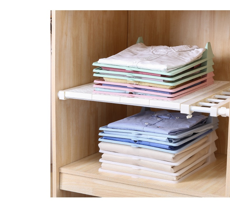 5Pcs Set Folding Board Simple Clothes Folder Wardrobe Finishing Home Shirt Underwear Storage Rack Folding Clothes Storage Shelf in Storage Holders Racks from Home Garden