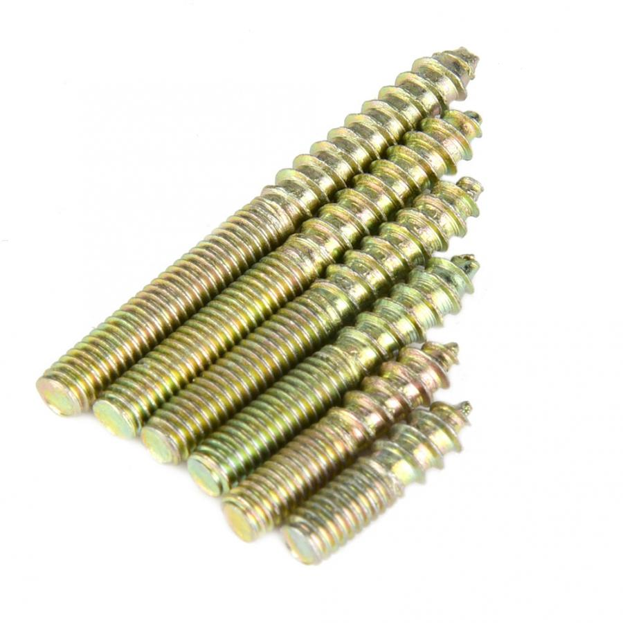 110pcs M4 Stainless Steel Button Head Hex Hexagon Socket Allen Screw Bolt Woodworking Furniture Connector Double Ended Screw in Bolts from Home Improvement