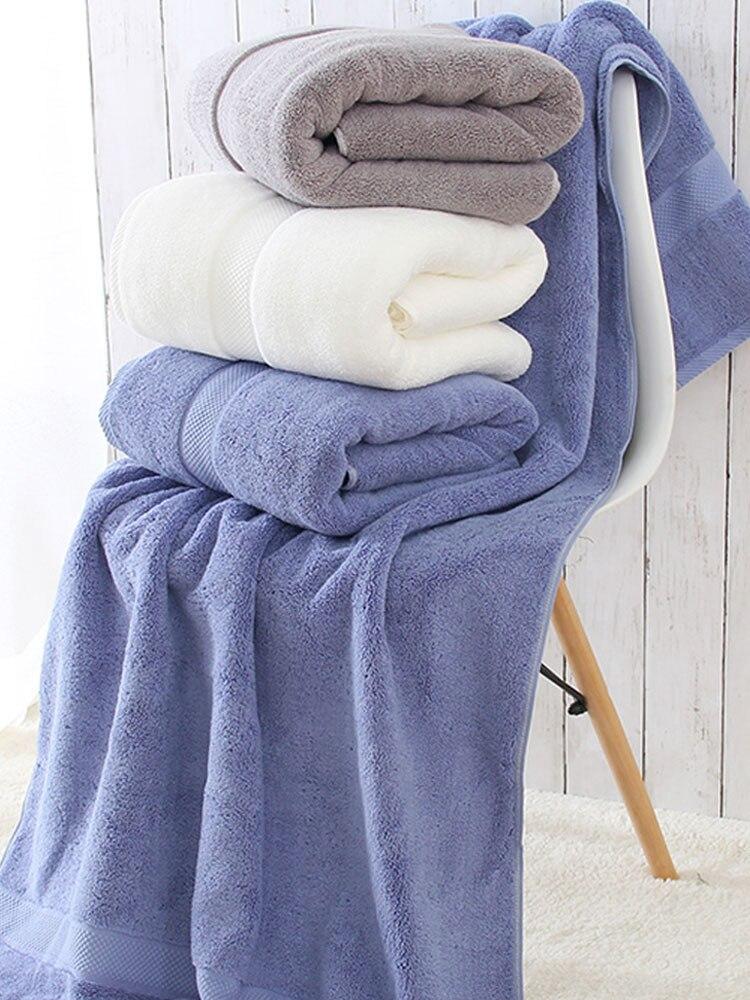 Serviettes De bain absorbantes en microfibre pour cheveux adultes serviette corps solide à séchage rapide Toallas Toalha De Banho produits ménagers JJ60MJ