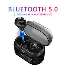 лучшая цена Bluetooth Headphones Mini TWS Wireless Earphones Wireless Hifi Stereo Headsets Mobile Phone PC Earphones Waterproof Earbuds Mic