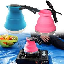 Travel Foldable Electric Kettle - Fast Water Boiling - Food Grade Silicone - Small, Collapsible, Portable - Boil Dry Protect vosoco electric kettle small kettle portable portable electric heating cup for electric kettle 0 5l multi function boil water