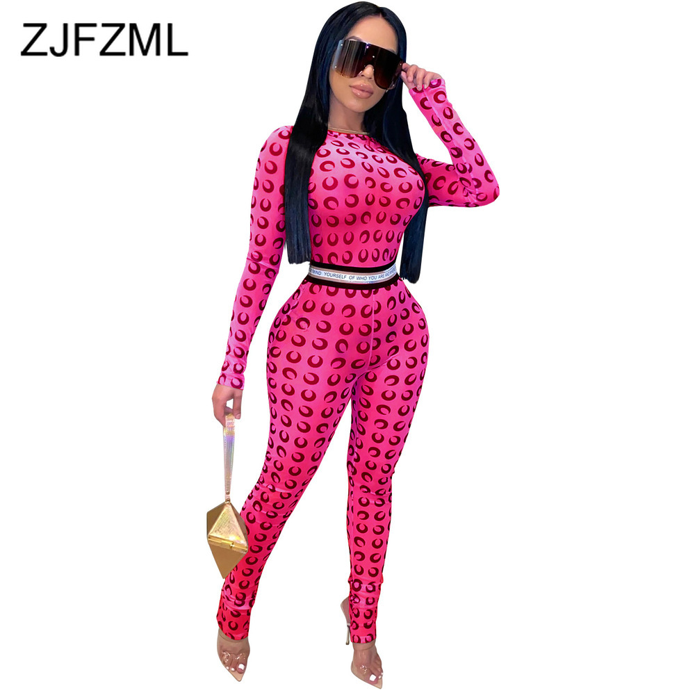 Neon Yellow Letter Print Sexy Skinny Romper Woman High Waisted Long Sleeve Club Party Jumpsuit Sheer Mesh Perspective Bodysuits