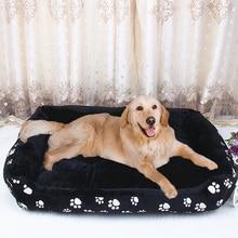 큰 개를위한 애완견 침대 작은 개 따뜻한 부드러운 개 매트리스 소파 빨 수있는 애완 동물 잠자는 소파 케이지 매트 큰 크기 XXL