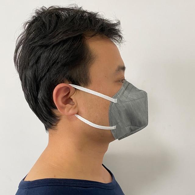 Mouth Mask Viscose Cute PM2.5 Anti Haze Black Dust Mask Nose Filter Windproof Face Muffle Bacteria Flu Fabric Cloth Respirator 3