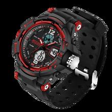 Sanda luxe merk waterdichte heren horloges резиновый кварцевый