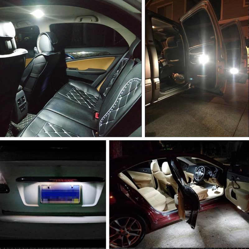 21 unids/set E46 sedán M3 luz de la placa de matrícula del coche LED para BMW 1999-2005 luz del mapa de la cúpula Interior del coche kit de bombilla de maletero blanco 12V