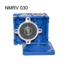 NMRV030 Gearbox Reducer Ratio 5/7.5/10/15/20/25/30/40/50/60/80 High Quality Electric Motor Use for Automatic Doors