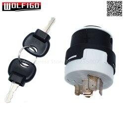Wolfigo novo 701/80184 85804674 50988 interruptor de ignição com 2 chaves conjunto para jcb ELT20-0039 701/80184 novo holland fork tratores