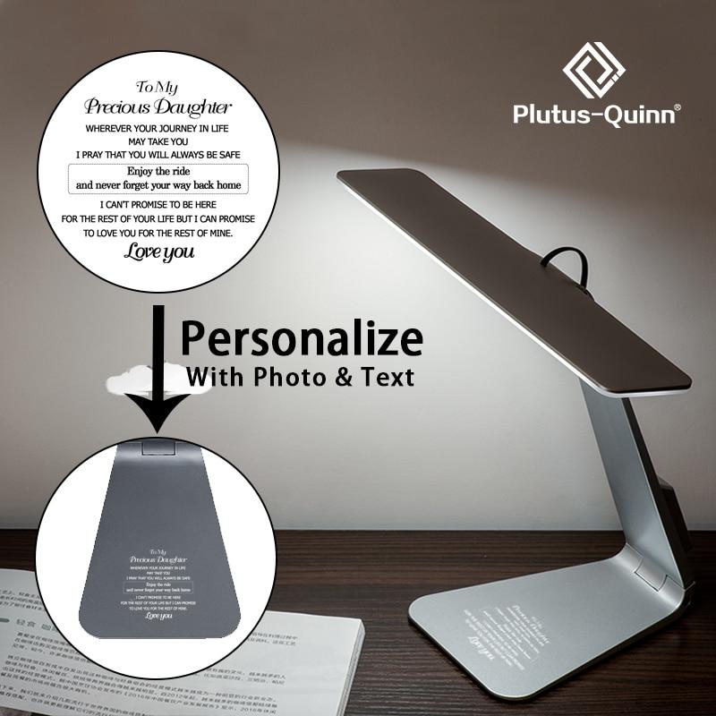 2020 Simple Mac Style Desk Light LED Adjustable Brightness Rechargeable Desk Lamp Ultrathin Folding Reading Study Table Lamp
