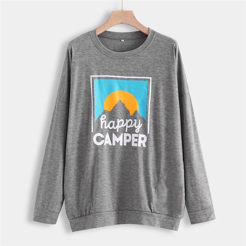 Women Hoodies Sweatshirts Letter Print Pullovers Plus Size Women Sweatshirts Loose Autumn Sweatshirt Long Sleeve Pocket Hoodie