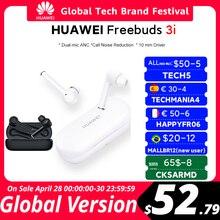 code: TECH5 50$-5$ OFF In Lager Globale Version Huawei FreeBuds 3i 3 ich TWS Drahtlose Bluetooth Kopfhörer Ultimative Geräuschunterdrückung 3-mic System headsets