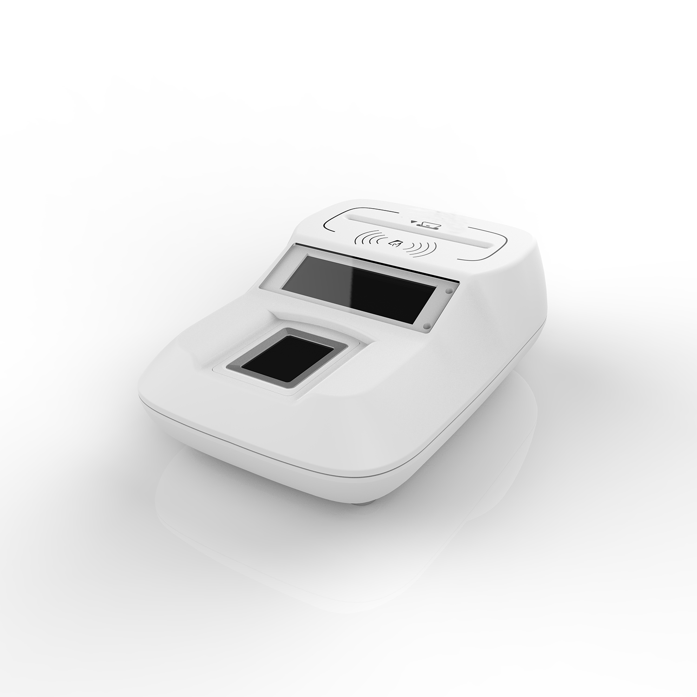 Белый Смарт NFC + считыватель контактных карт отпечатков пальцев USB + Bluetooth интерфейс HD8 FI - 2