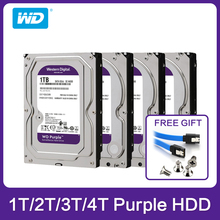 """ويسترن ديجيتال WD الأرجواني HDD 1 تيرا بايت 2 تيرا بايت 3 تيرا بايت 4 تيرا بايت SATA 6.0 جيجابايت/ثانية 3.5 """"قرص صلب ل كاميرا تلفزيونات الدوائر المغلقة العهد DVR IP NVR"""