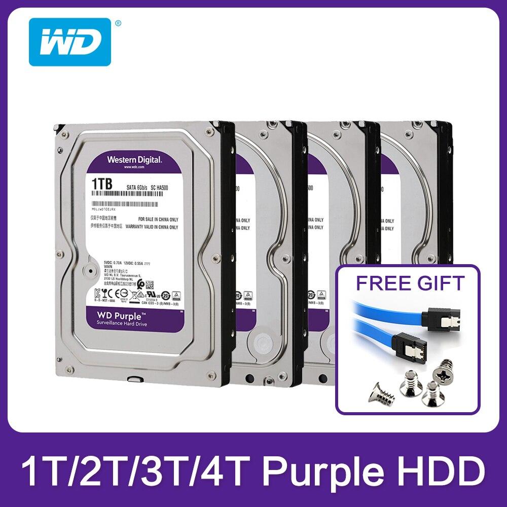 Western Digital WD фиолетовый HDD ТБ 2 ТБ 3 ТБ 4 ТБ SATA 6,0 ГБ/сек. 3,5
