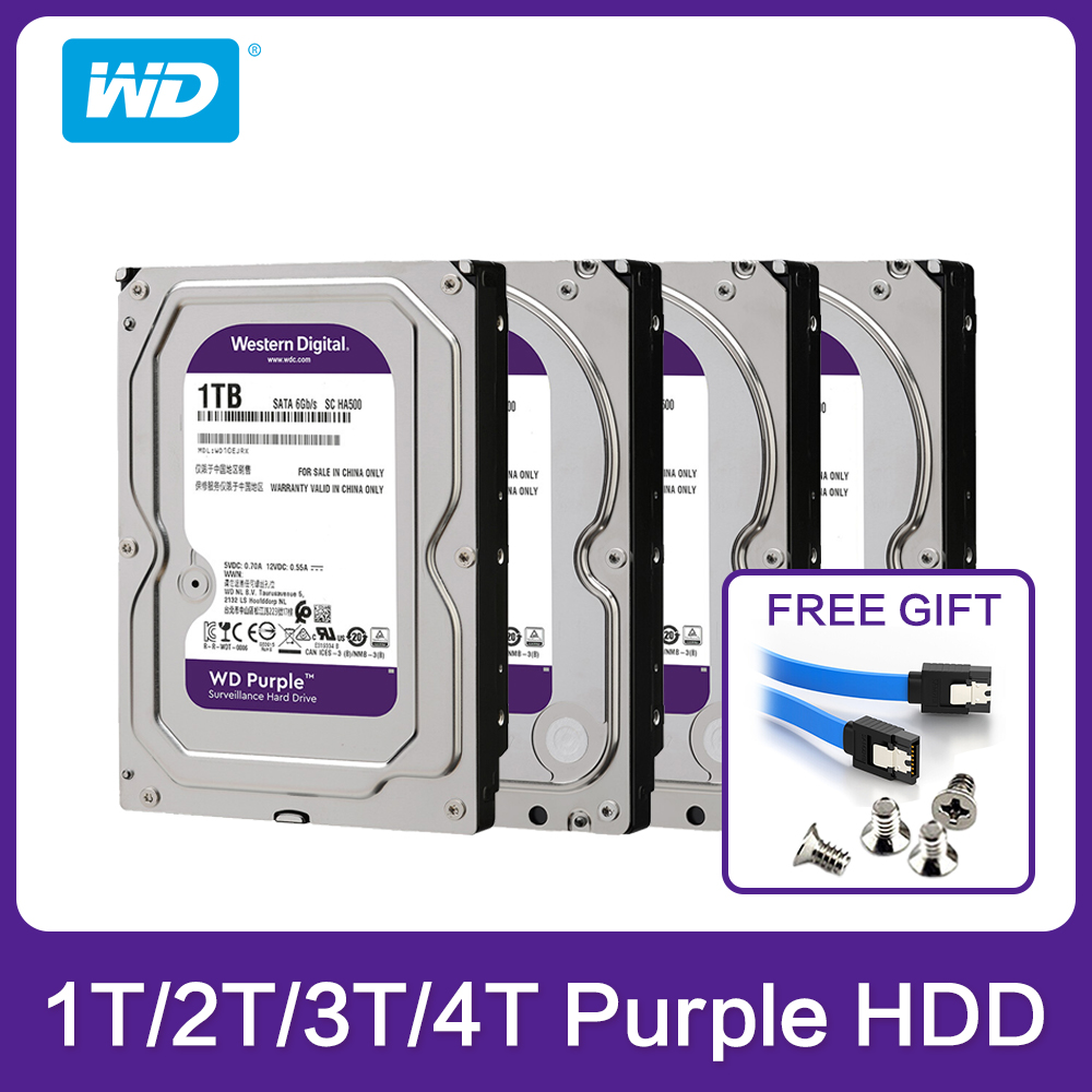 Western Digital WD Purple HDD 1TB 2TB 3TB 4TB SATA 6.0Gb/s 3.5