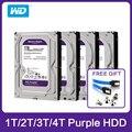 Жесткий диск Western Digital WD Purple HDD, внешний жесткий диск 1 ТБ, 3 ТБ, 4 ТБ, SATA 6,0, внешний жесткий диск 3,5 дюйма для камеры видеонаблюдения, AHD, DVR, IP, NVR