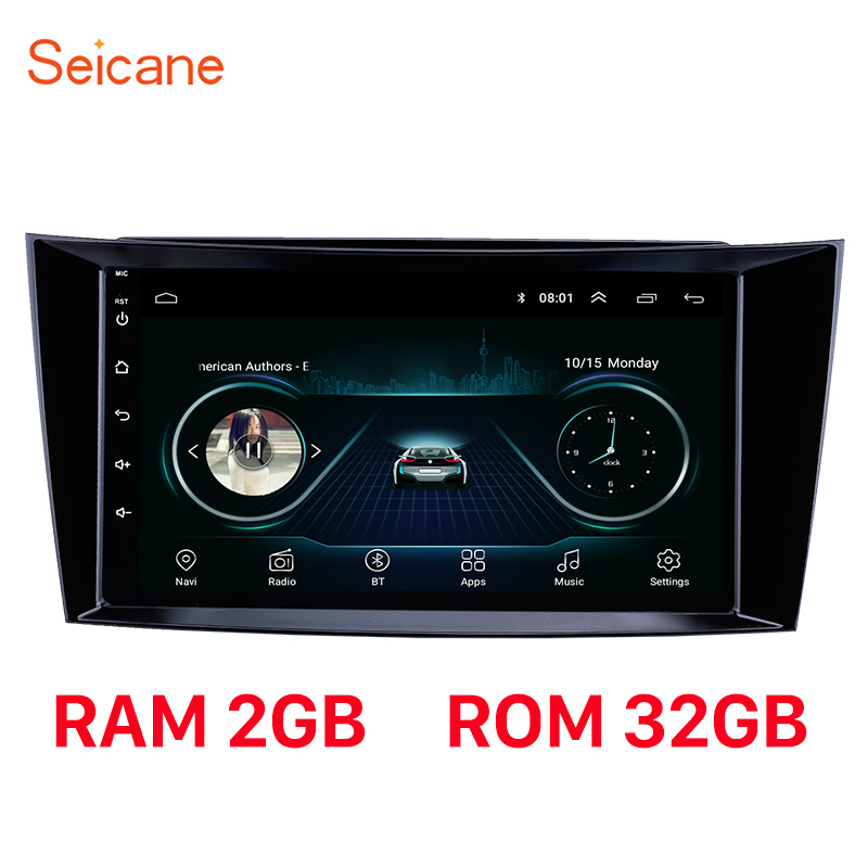 Seicane Android 8.1 RAM 2GB Car <font><b>GPS</b></font> Stereo Unit Player For 2001-2010 <font><b>Mercedes</b></font> Benz E-Class <font><b>W211</b></font>/CLS W219/CLK W209/G-Class W463 image