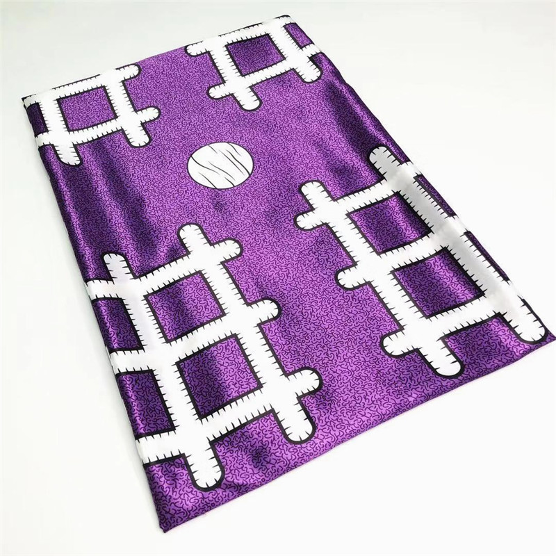 african silk wax print fabric ribbon silk material hot selling african nigerian fabric for women dress 5yards per piece