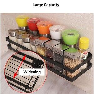 Image 3 - Baffect Wand Regal für Küche Eisen Wand Montiert Lagerung Regale Organizer Gewürz Gläser Halter Rack Spice Rack Paste up/bohrer