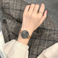 Модные креативные простые кварцевые часы для женщин  стальные сетчатые часы  новые часы  женские часы-браслет  подарок для женщин