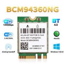MacOS Hackintosh – carte Wifi sans fil, 1200Mbps, NGFF M.2, adaptateur Bluetooth 4.0, 802.11ac, 2.4G/5Ghz, par rapport à DW1560