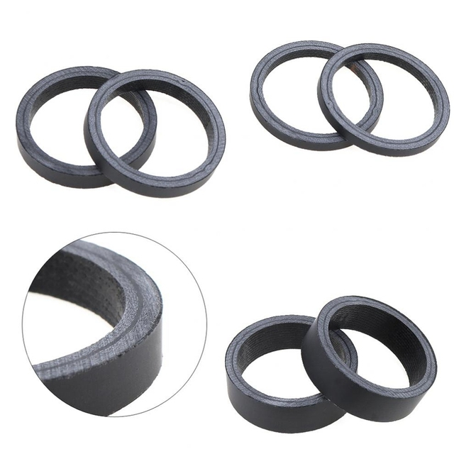 """1/5 PCs 1 1/8"""" 3mm 5mm 10mm 15mm 20mm Carbon Fiber Washer Bike Bicycle Headset Stem Spacers Kit for Bike Fix Refit Bicycle Parts"""