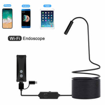 WIFI Endoscope Camera Mini Waterproof Soft&Hard Cable Inspection Camera 8mm USB Endoscope Borescope For IOS Iphone Android PC - DISCOUNT ITEM  65% OFF All Category
