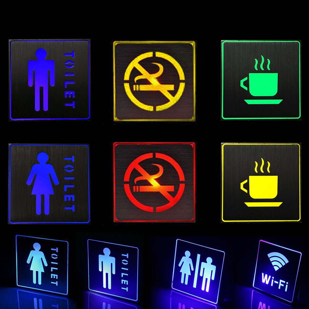 Led Emergency Light Emergency Indicator Sign Lighting For Toilet WIFI Exit Etc.Public Areas Information Sign Warning Lights